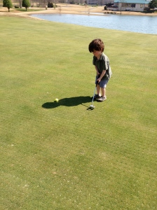 Good looking putting stroke right there.
