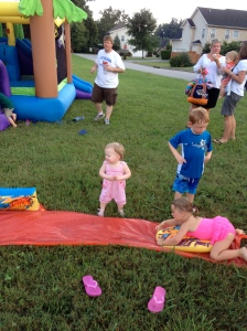 Ain't a party without my daughter in the middle of things.