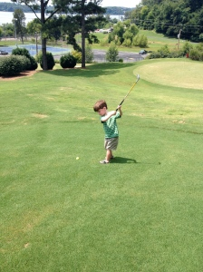 His first green in regulation.  (ask a golfer)