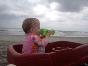 Beach, Juice, Wagon.  Can it get any better?