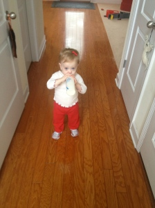 Pink shoes? Who dressed this kid, Stevie Wonder?
