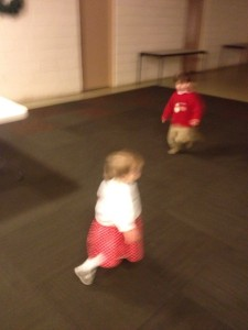 Running laps in the church basement. Baby Jesus better put on some track shoes.