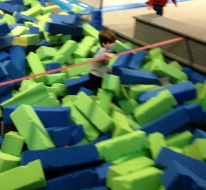The foam pit was not kind to me