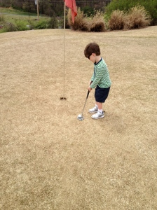 His first ever par putt.