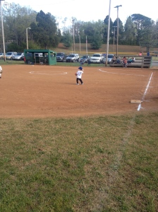 Making the play on the hot corner!