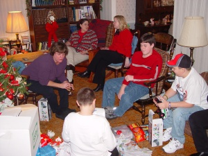 Christmas in Jersey 2004. Only 1/3 of the family in this shot.