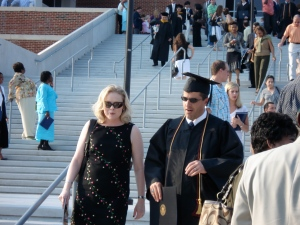 Leaving the Comcast Center - University of Maryland for my graduation. Hottest graduates wife there.