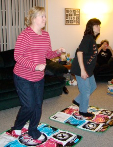 White girl dancin with The Warden. Christmas in Jersey 2008. Frank is on board - 5 months away.