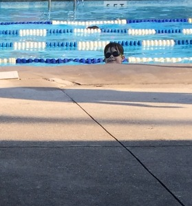 Kid can always find the camera. Gettin work done in Lane 1.
